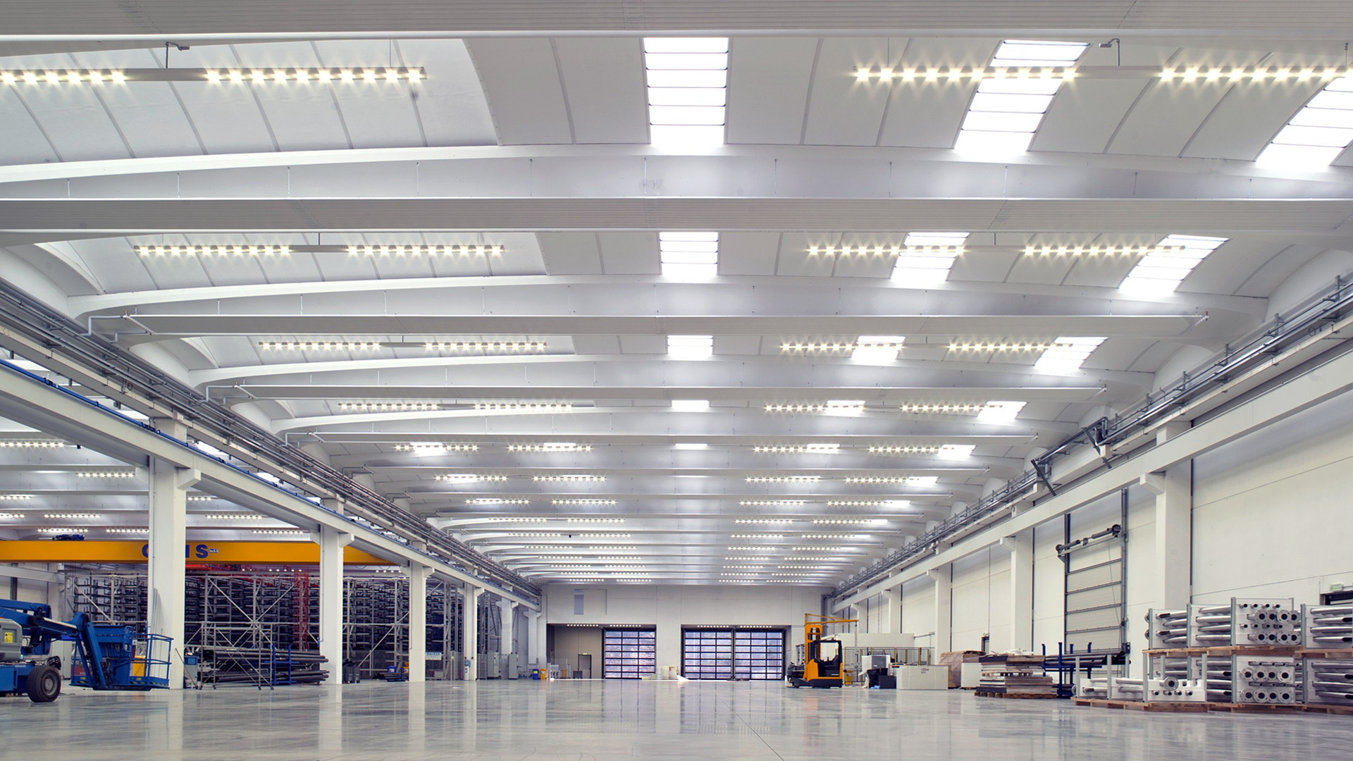 Plafoniere Per Capannoni Industriali : Flexsolight illuminazione industriale led