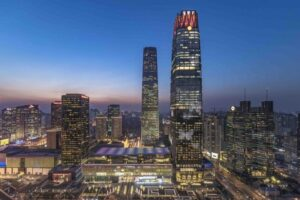 Illuminazione del china world trade centre flexsolight